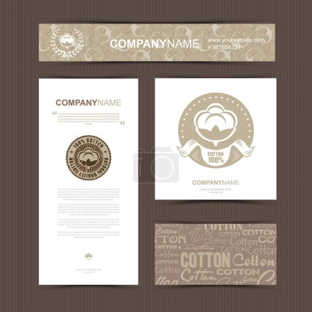 Illustration for Template of identity for Textile Company. Vector illustration - Royalty Free Image