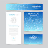 Template of identity for company ecology Pure water for sale