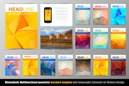 Abstract triangle geometric brochure template.
