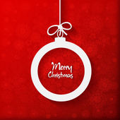 Merry Christmas Ball greeting card