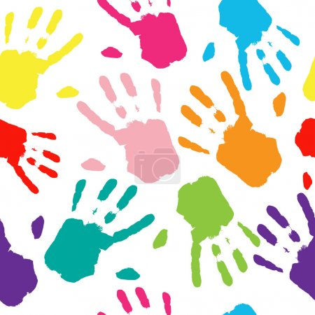 Hand Colorful Prints.