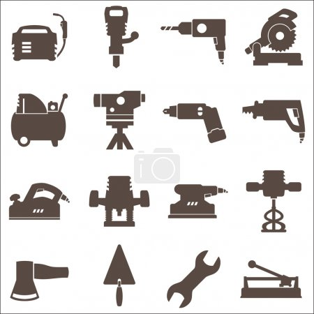 Construction tools. Repair icons. Vector set.