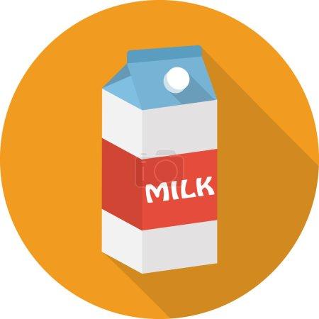 Vector milk box icon