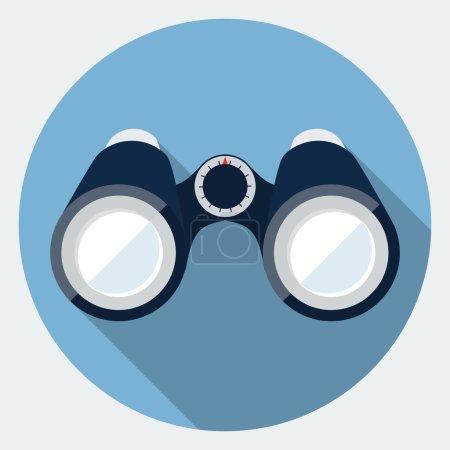 Illustration for Vector binoculars icon - Royalty Free Image