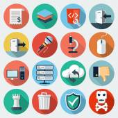 Flat Icons with long shadow set 11