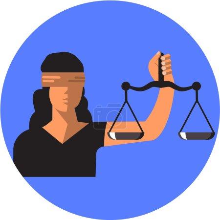 Vector Lady Justice