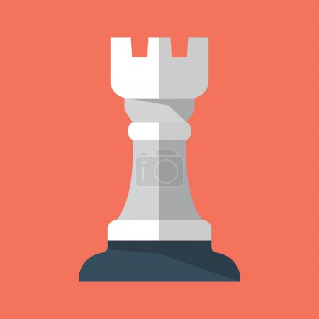 Chess Rook Flat Icon