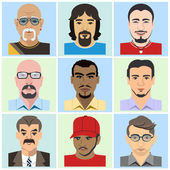 Avatars Vector flat illustration