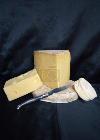 Assortment of mountain cheese