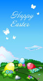 Bright greeting card for Easter vector