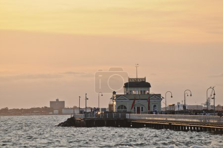 St Kilda Pier peaceful evening in Melbourne Victoria Australia