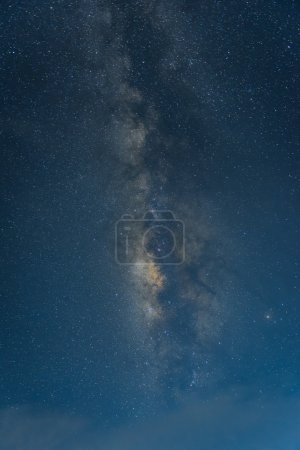 Photo for Colorful space shot showing the universe milky way galaxy with stars and space dust. - Royalty Free Image