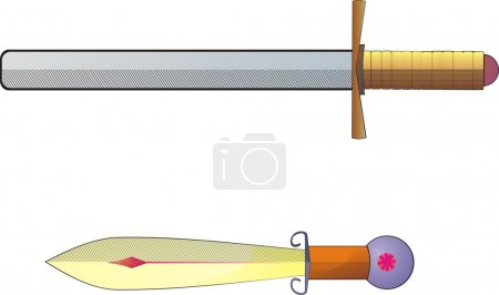 Photo for Illustration of two historical swords - Royalty Free Image