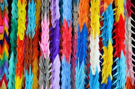 Traditional Japanese Thousand origami cranes for japan call Senb