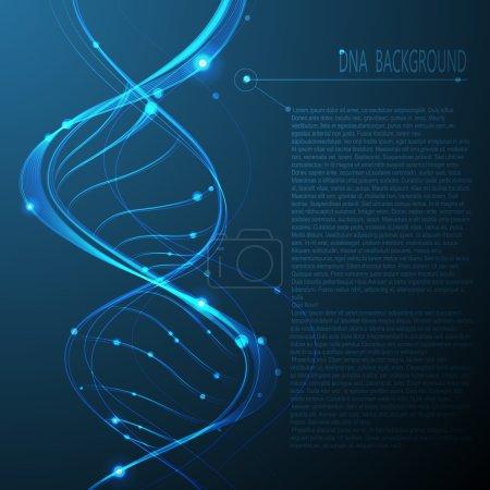 Illustration pour Contexte moléculaire de l'ADN. Illustration vectorielle . - image libre de droit