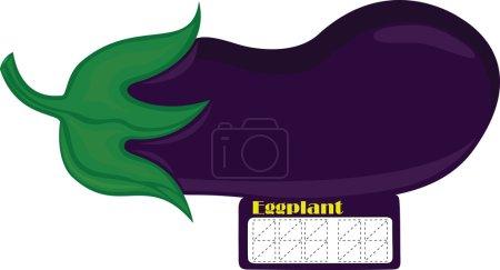Eggplant price tag