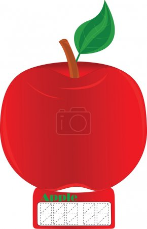 Illustration for Red apple, natural source, malic acid,pricelist tag, nice price tag, standard price tag, simple price tag, usual price tag, price tag black, white price tag, enter the price,price of goods, sticker price tag, paper price tag, enter the price - Royalty Free Image
