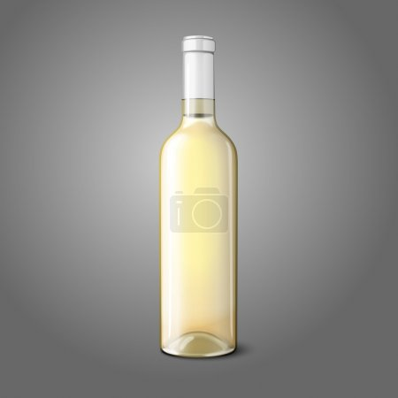 Blank realistic bottle for white wine. Vector