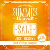Summer is over but sale just begin banner