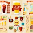 Постер, плакат: Set of Beer Infographic elements
