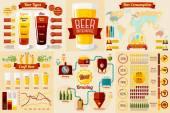 Set of Beer Infographic elements