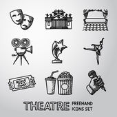 Set of freehand Theatre icons