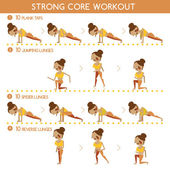 Strong core workout
