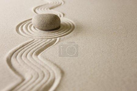 Photo pour Mini jardin zen - image libre de droit