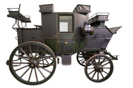 Photo pour Smart noir transport historique isolé sur blanc - image libre de droit