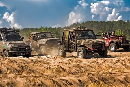 Jeep offroad racing