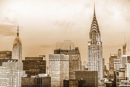 Photo pour Panoramic top view of  Manhattan. New York City - image libre de droit