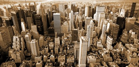Photo pour Panoramic top view of  Manhattan. New York City - image libre de droit