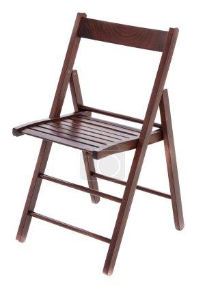 Photo pour Chaise en bois sur fond blanc - image libre de droit