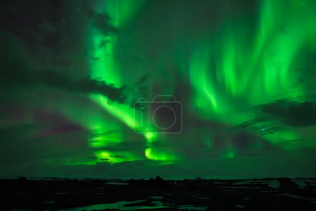 Photo pour The Northern Lights  as seen from Western Iceland - image libre de droit
