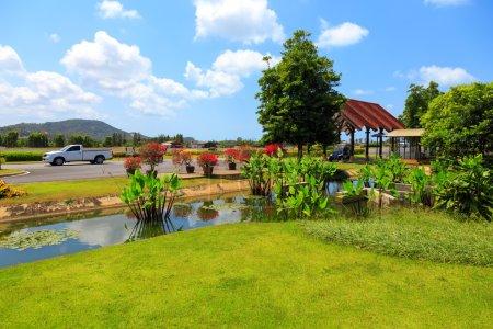 Photo pour Samui airport runaway view, Thailand - image libre de droit