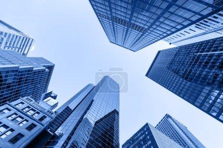 Photo pour Vue en districtg financière, Manhattan, New York - image libre de droit
