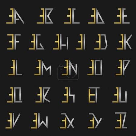 Letter E with alphabet