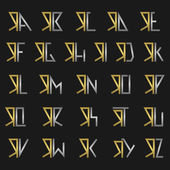 Letter R with alphabet