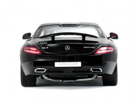 Collectible sport car Mercedes back view