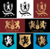 Heraldic logo design element