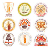 Set of bakery and wheat logo