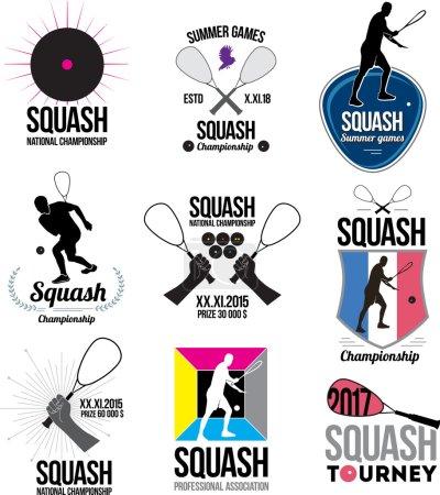 Set of retro squash logos