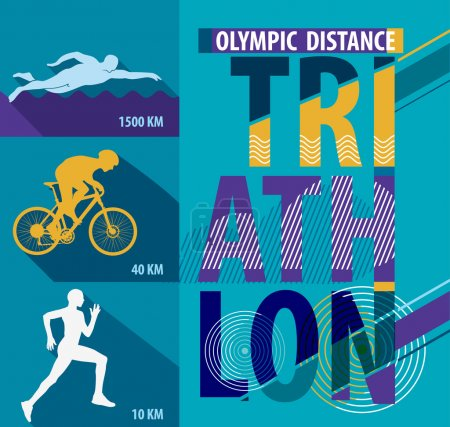 Poster style triathlon