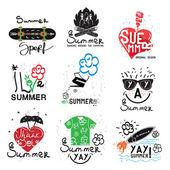 Set of vintage summer labels