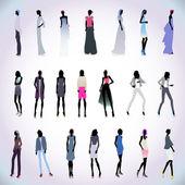 Sada vysoce módní žen barevné