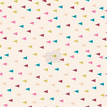 Illustration pour Motif de fond de poudre pastel triangle géométrique sans couture, vecteur - image libre de droit