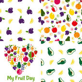 Fruit seamless patterns