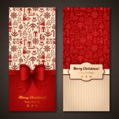 Place for your text message Design in classic Christmas colors Holiday brochure design for corporate greeting cards