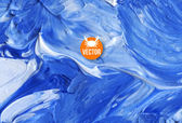 Oil painted background Vector illustration   Abstract backdrop Blue water waves painted in oil Crab seafood logo design Restaurant menu cover design