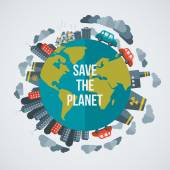 Creative concept Save the Planet.
